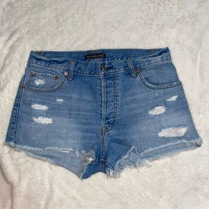Abercrombie and Fitch Jean Distressed Shorts